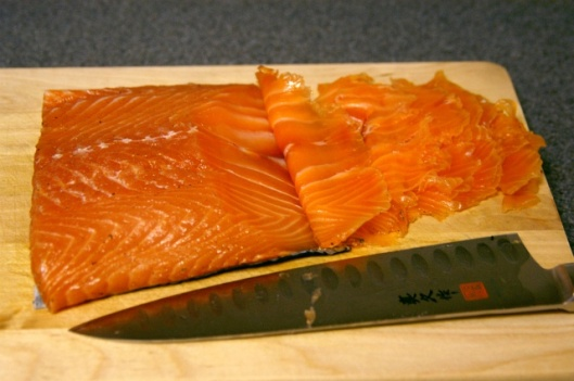 Angle cut Salmon Picture